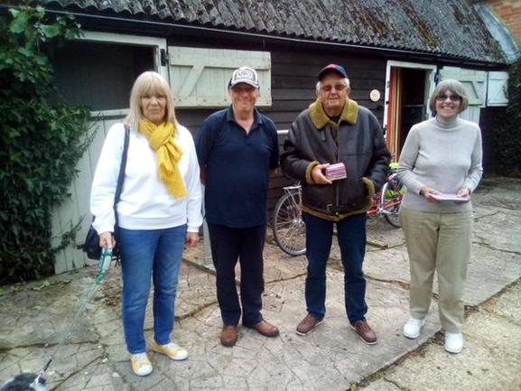 Sue & Geoff Dean, Run to Chessel Pottery 17th Oct 2021